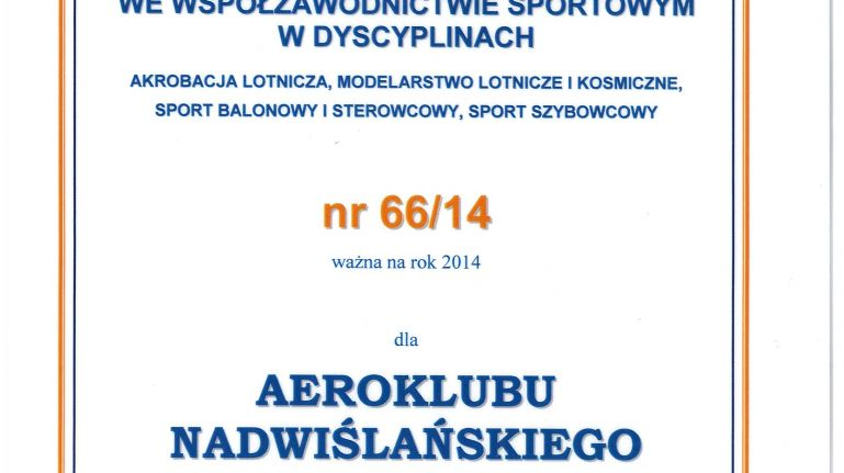 Mamy Licencję Sportową!