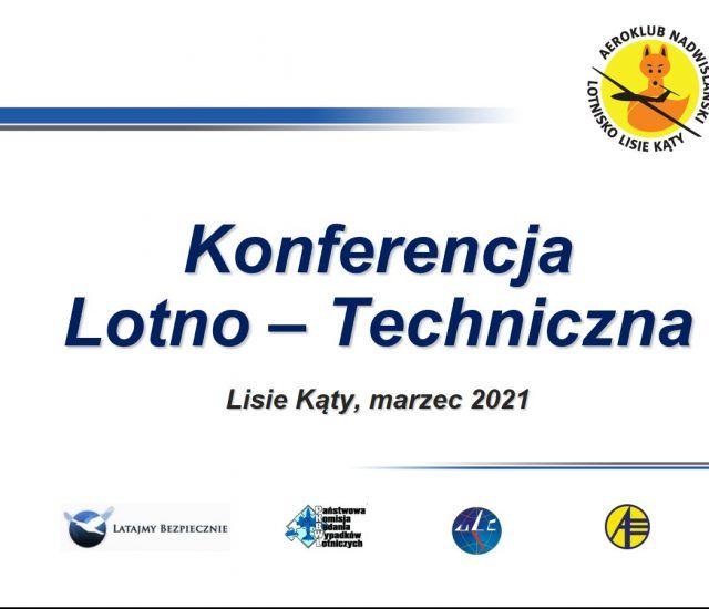 Konferencja Lotno-Techniczna oraz Bezpieczeństwa Lotów 2021